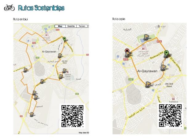 Mapas con las Rutas Sostenibles Sugeridas