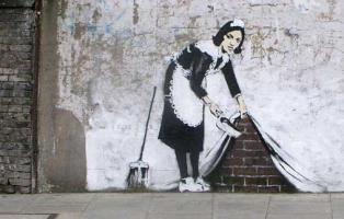 Graffiti de Banksy / Fotografía de Miriam Blasco