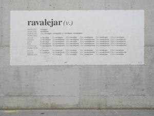 Mural en la Plaça Àngels, Barcelona
